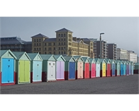 Brighton beach huts at Comms by the Coast even