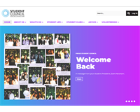 Heriot-Watt Dubai Student Council website home page banner
