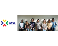 Group of student officers standing in a line with new MSL logo