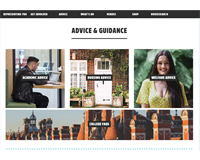 RHUL Students' Union Advice Centre area on their website